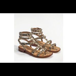 Sam Edelman Eavan Studded Gladiator Sandal Size 8